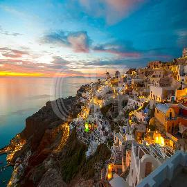 Sunset In Oia & Traditional Villages